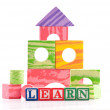 Basic Education with Building Blocks and Shapes — Stock Photo