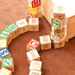 Toy Block Building Fun — Stock Photo