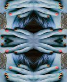 Abstractie met vingers — Stockfoto