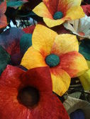 Giant flowers Handicrafts — Stock Photo