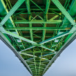 Bridge connecting two countries, Slovakia and Hungaria — Stock Photo