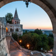 South gate of Fisherman's Bastion in Budapest — Stock Photo