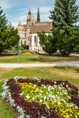 Cathedral of St. Elizabeth with garden — Stock Photo