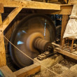 Stock Photo: Wooden mill inside