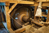 Wooden mill inside — Stock Photo