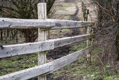 Wooden ranch fence — 图库照片
