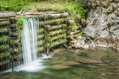 Man made waterfall — Stock Photo