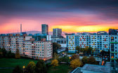 Suburb at Sunset — Stock Photo