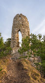 Ruins of a Castle on the Hill — Stok fotoğraf