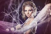 Donna inverno — Foto Stock