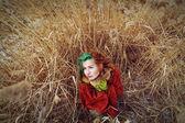 Ethnic fashion woman — Stock Photo