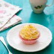 Cupcakes with cream cheese frosting — Stock Photo #39140083