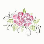 Fondo floral. elementos para la decoración de la página. — Vector de stock