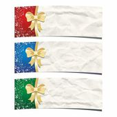 Christmas banners. Crumpled paper background. — Stock Vector