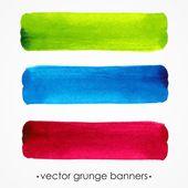 Banderas de grunge. fondo acuarela. estilo urbano. — Foto de Stock