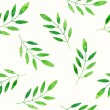 Green leaves background. Seamless pattern. — Stock Photo