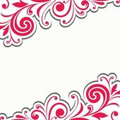 Floral decoration. Calligraphic design element. Russian style. — Stock Photo
