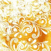 Floral pattern. Grunge floral background. — Foto de Stock