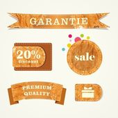 Grunge banners. Retro labels. Vintage frames. Website decorative element. — Stockfoto