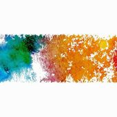 Grunge banner. Watercolor spot. — Stock Photo
