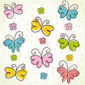 Background with butterfly. — Stock Vector