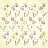 Fondo floral, tulipanes — Vector de stock