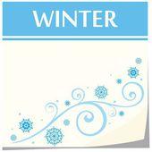 Calendar template, winter — Stok Vektör
