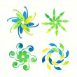 Floral signs for decoration.. — Vetorial Stock