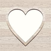 Wooden background with heart. — Stock Vector