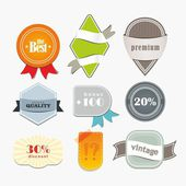 Collection of sale elements — Vector de stock