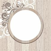 Vector wood frame. — Stock Vector