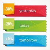 Modern Design Banner template. — Stock Vector