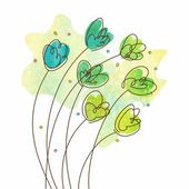 Watercolor flowers — Stockvector