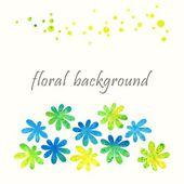 Floral vintage background. — Stock Vector