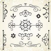 Calligraphic design elements. — Vector de stock