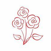 Bouquet of flowers. — Stock Vector