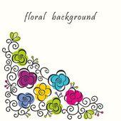 Cartão postal floral — Vetor de Stock