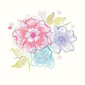 Güzel çiçekler buket — Stok Vektör