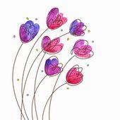 цветочный марочных фон — Cтоковый вектор