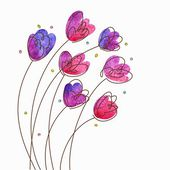 Fundo vintage floral — Vetorial Stock