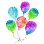 Kolorowe balony nadmuchiwane — Wektor stockowy