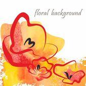 Floral briefkaart — Stockvector