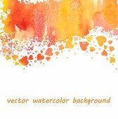 Watercolor heart background — Stock Vector