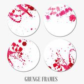 Grunge stickers. — Stock Vector