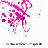 Watercolor splash background. — Stock Vector