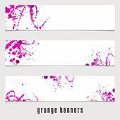 Grunge Banners. — Stockvektor