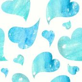 Background with blue hearts — Stock Photo
