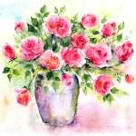 ������, ������: Roses in vase