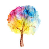 Watercolor tree — Stock Photo