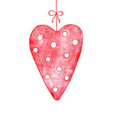 Valentine card with pink heart — Stock Photo